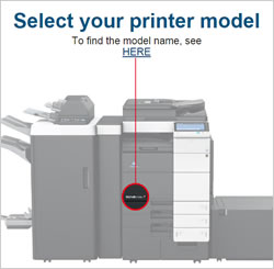Select your printer model